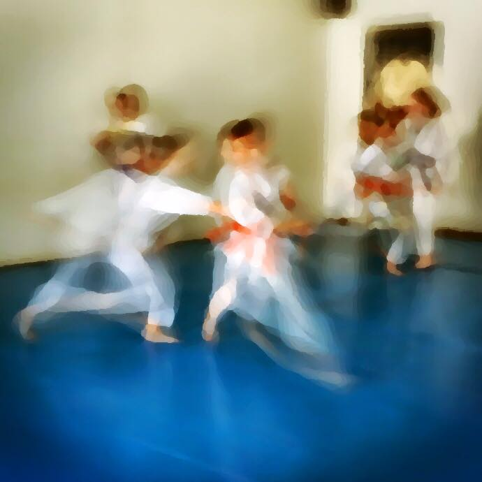 Some active fun in the childrens Aikido program