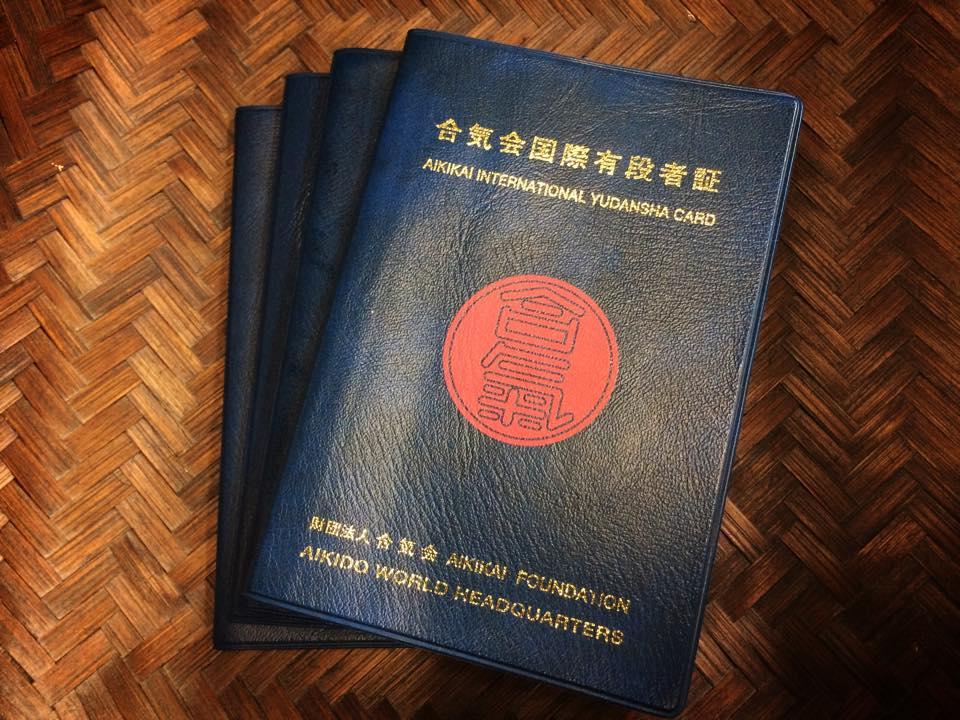 Aikido yudansha - black belt - passbooks